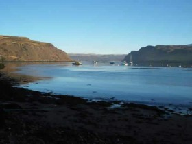 View of Raasay from Portree Harbour
